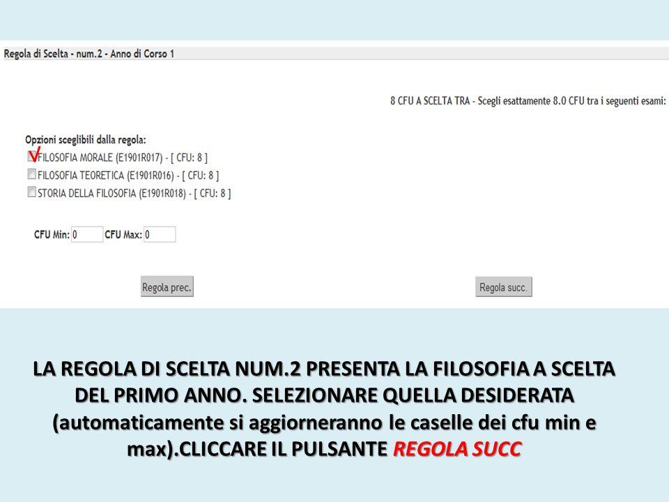 CON LA COMPILAZIONE DELLA REGOLA DI SCELTA N.3 ABBIAMO COMPLETATO IL PRIMO ANNO!!!.