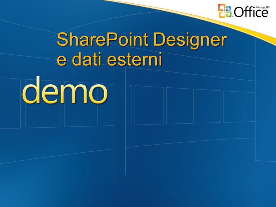 SharePoint Designer e dati esterni