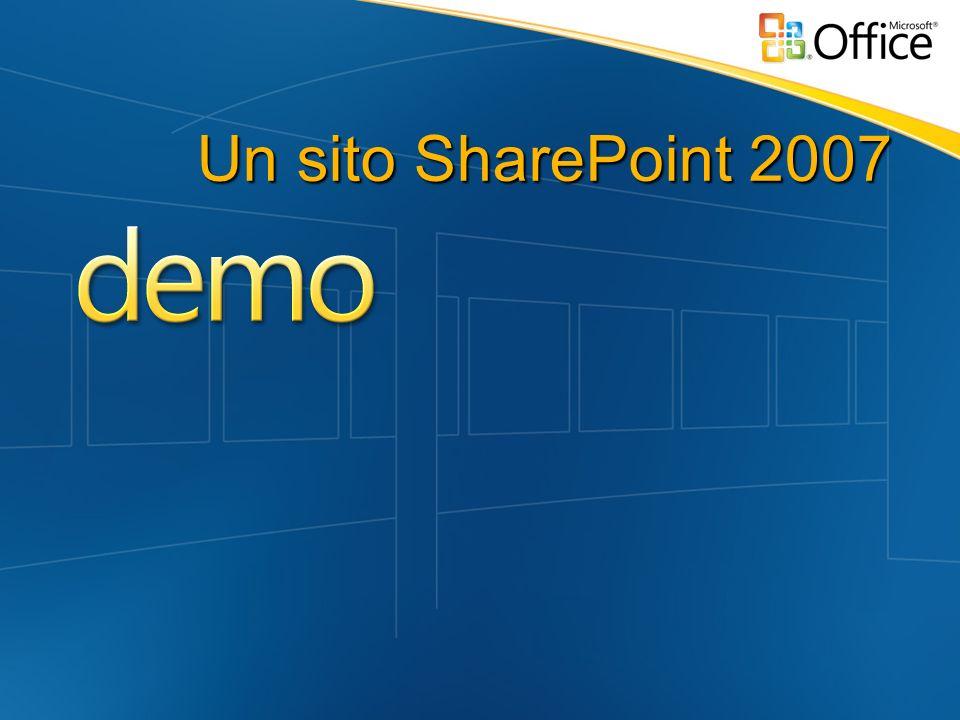 SP Designer e SharePoint Il designer conosce gli schema di SharePoint Consente la creazione di No Code Solution Creazione di liste, form, viste sui dati Integrazione di dati esterni in soluzioni SP Costruzione di Workflow Visual Studio 2005 per estendere la piattaforma Web Part, Workflow complessi, Custom Action