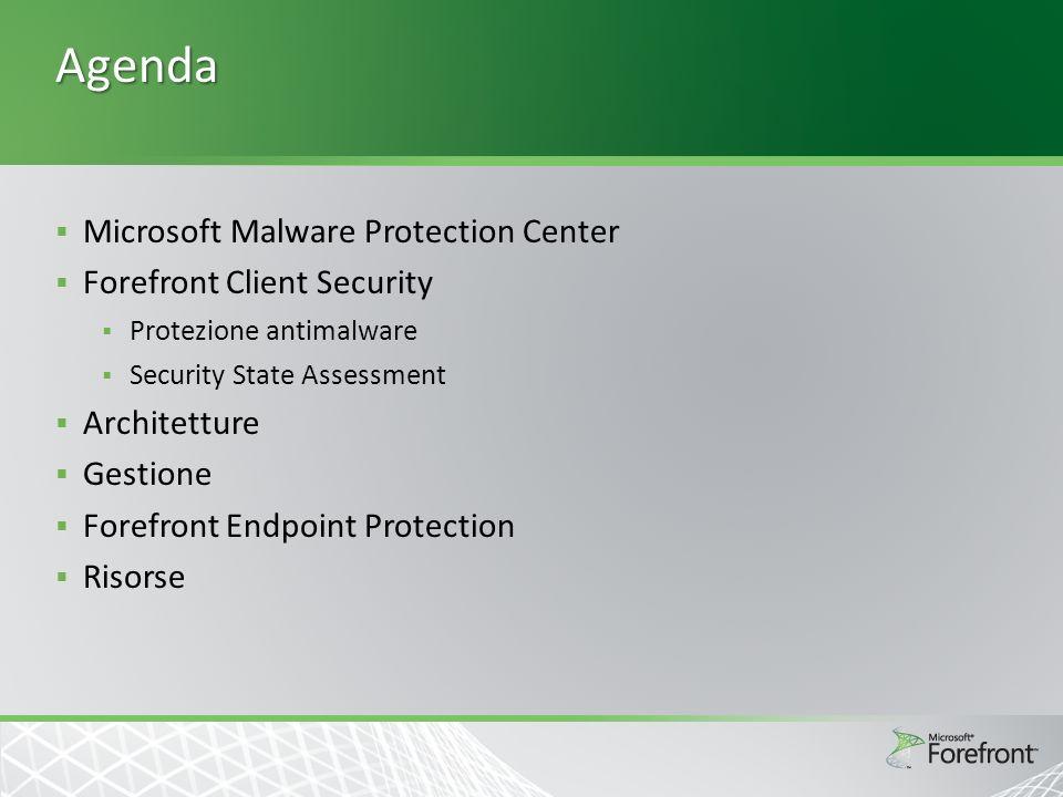 Security State Assessment Controlli sullo stato di aggiornamento e configurazione dei sistemi Protezione contro i blended threats Aggiornati Il servizio FcsSas esegue i controlli descritti nel vulnerabilityDefinitions.manifest