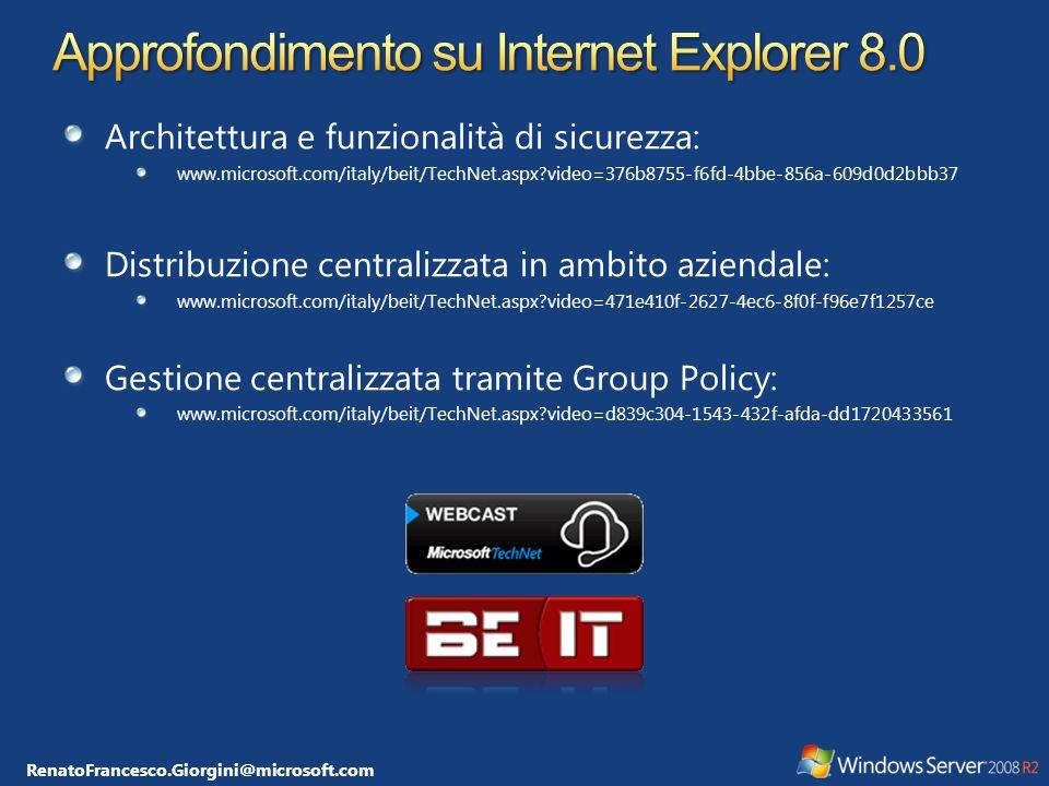 RenatoFrancesco.Giorgini@microsoft.com Non facilmente integrabili con le Group Policy È necessiaro utilizzare degli script di logon: http://support.microsoft.com/kb/921469 auditpol /set /subcategory: user account management /success:enable /failure:enable...