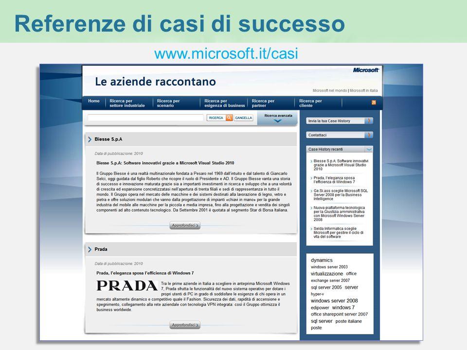 Referenze di casi di successo www.microsoft.it/casi
