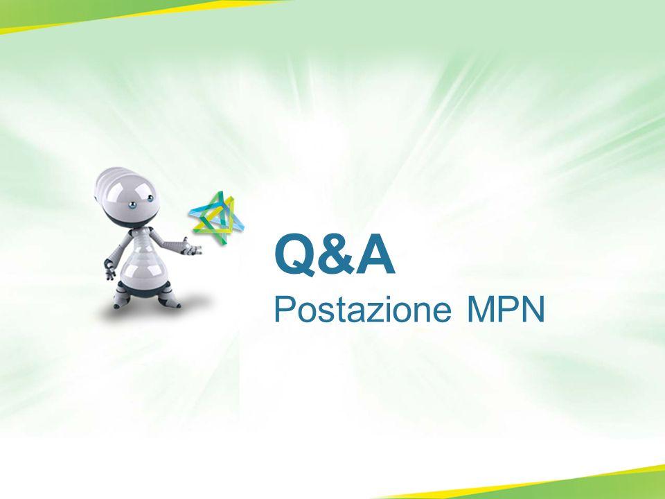 Q&A Postazione MPN