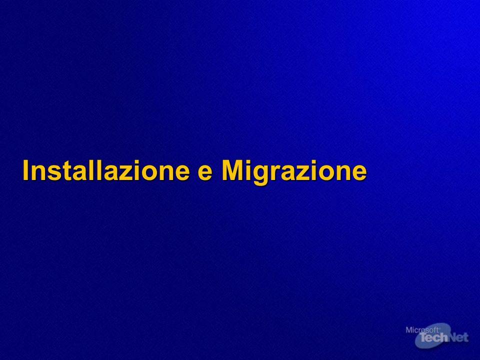 Installazione e Migrazione