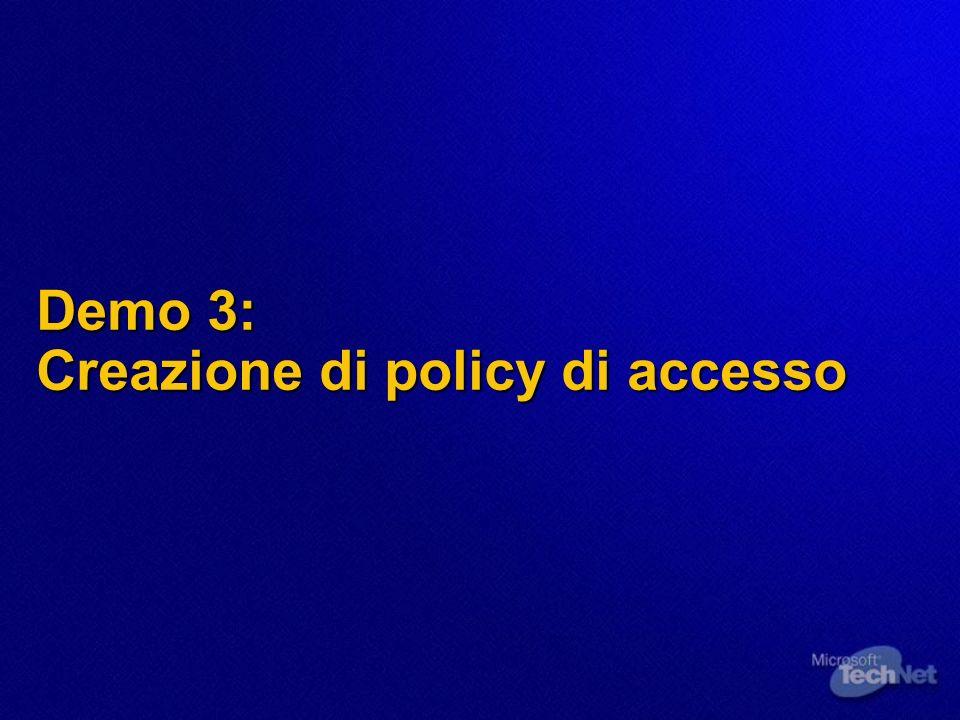 Demo 3: Creazione di policy di accesso
