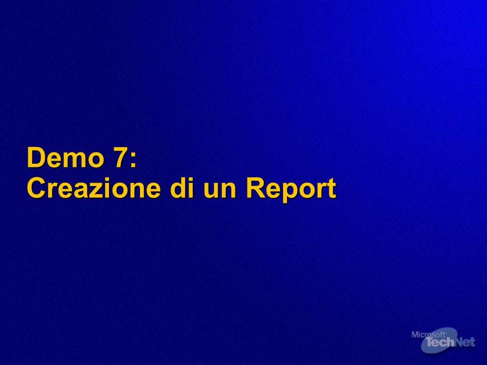 Demo 7: Creazione di un Report