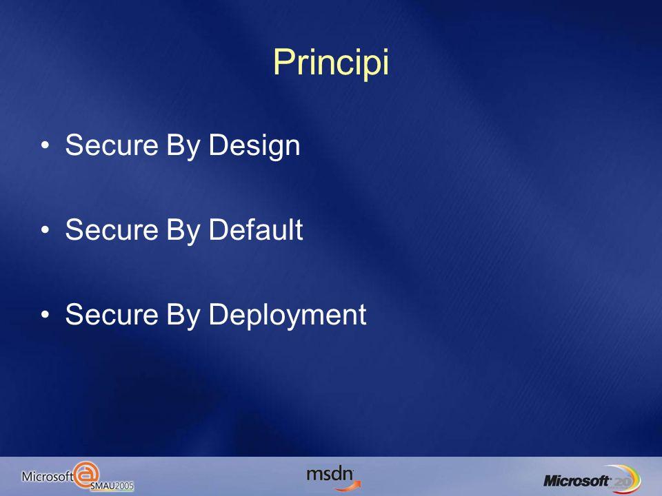 Servizi di SQL Server Least Privilege Utilizzare –Local Service (BUILTIN) –Domain User No.