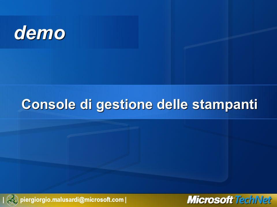 | piergiorgio.malusardi@microsoft.com | demo Console di gestione delle stampanti