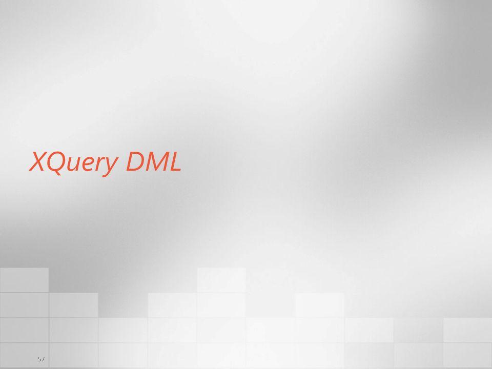 57 XQuery DML