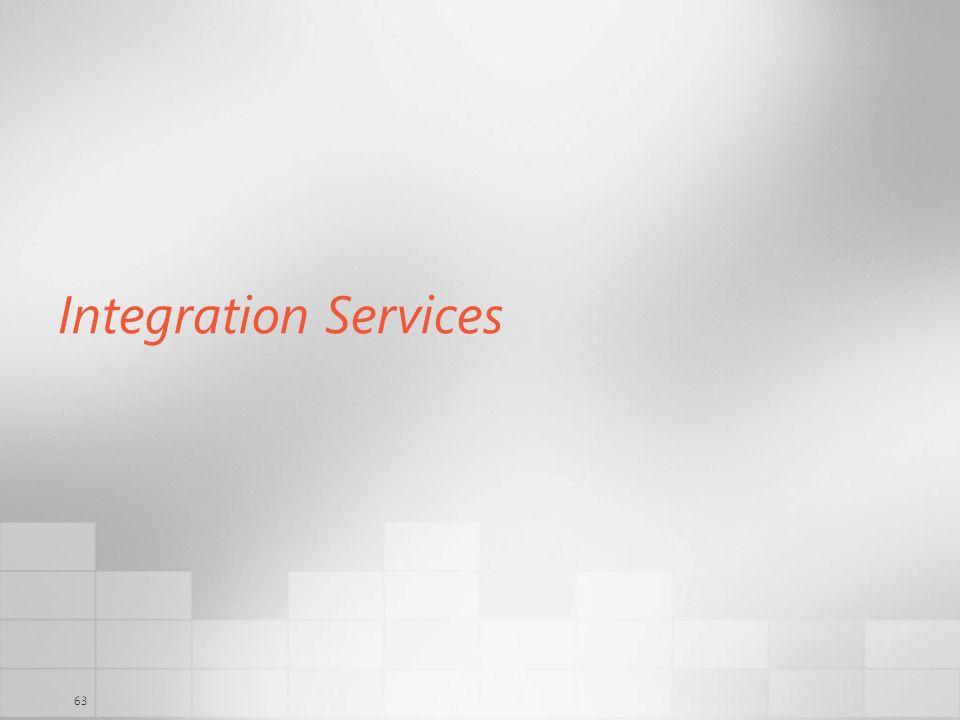 63 Integration Services