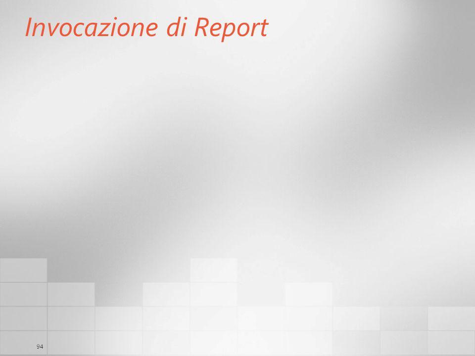 94 Invocazione di Report