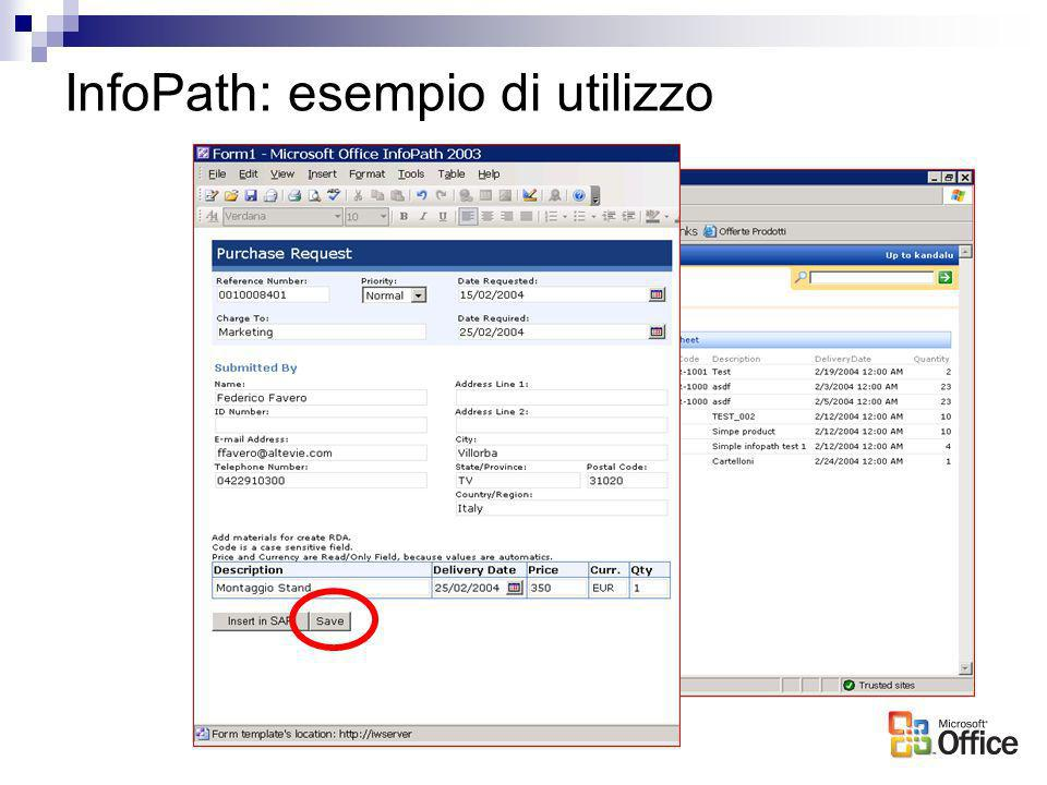 InfoPath: esempio di utilizzo