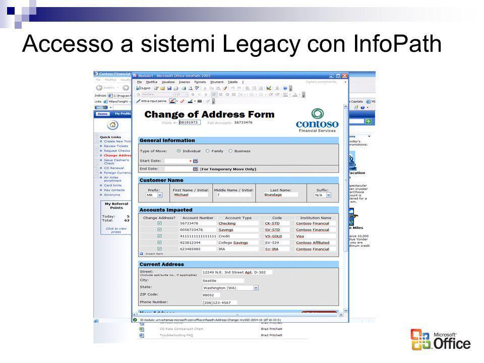 Accesso a sistemi Legacy con InfoPath