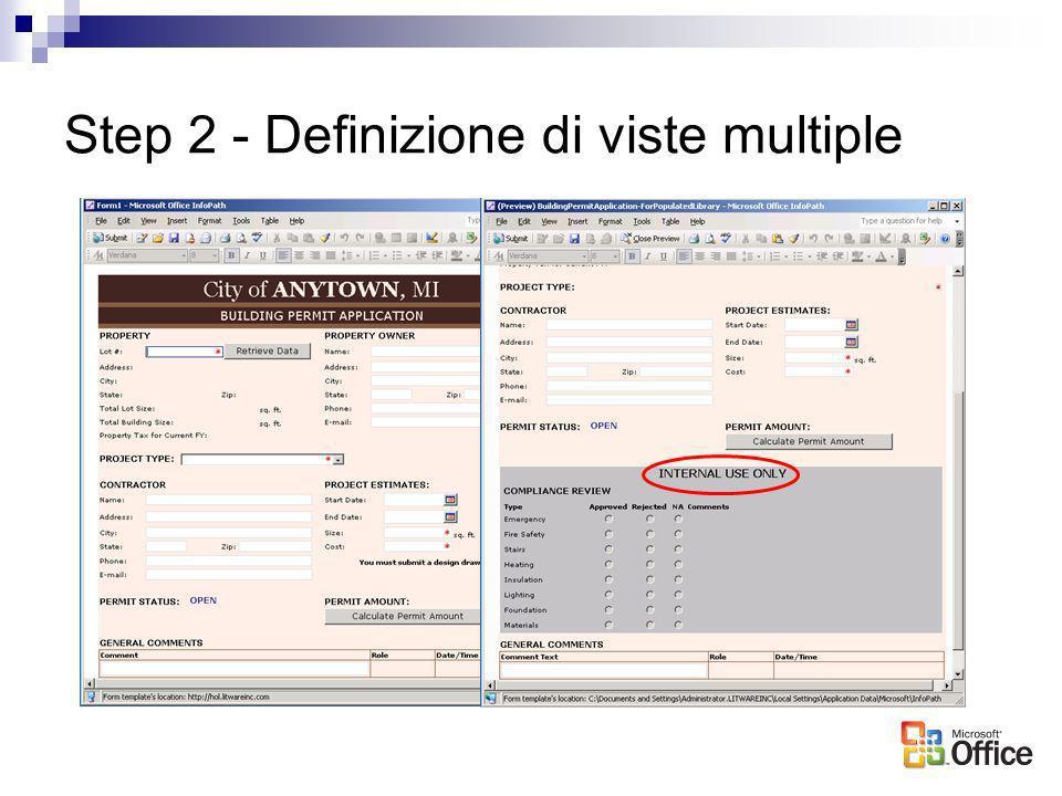Step 2 - Definizione di viste multiple