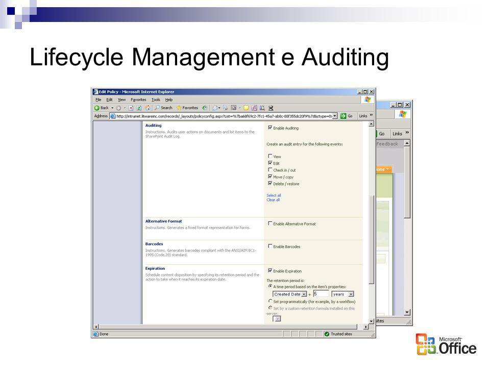 Lifecycle Management e Auditing