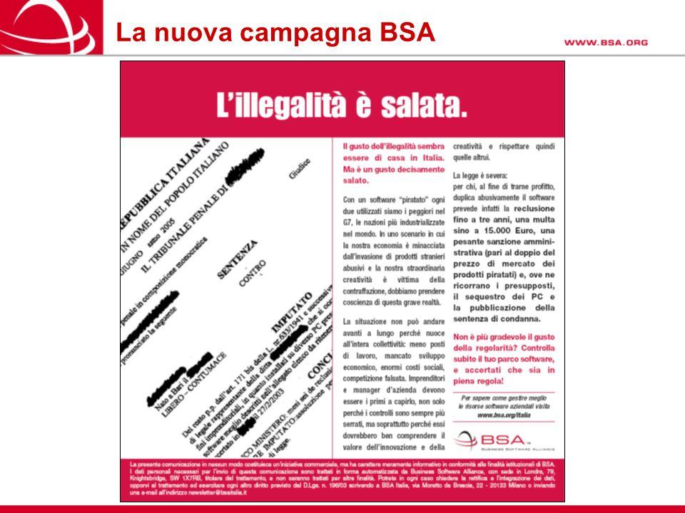 La nuova campagna BSA