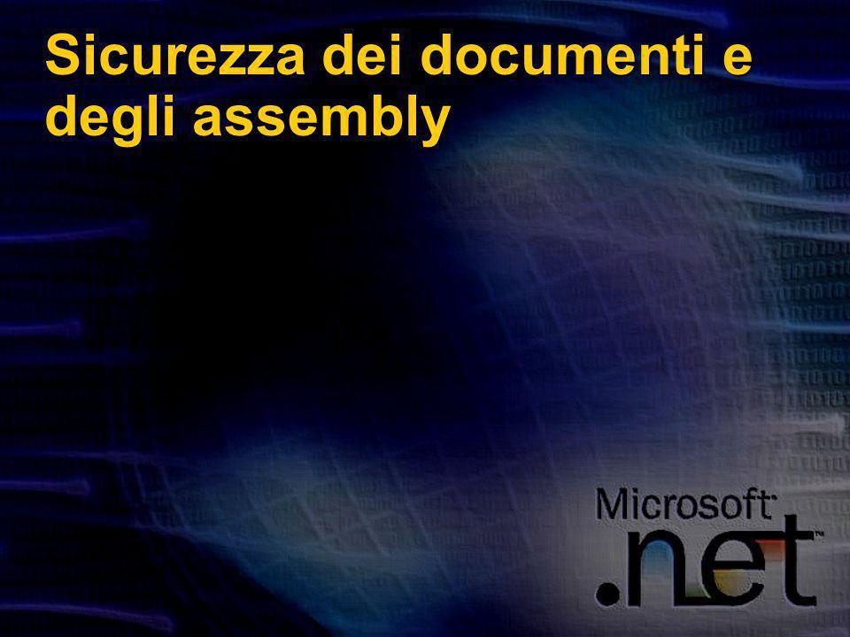 Sicurezza dei documenti e degli assembly