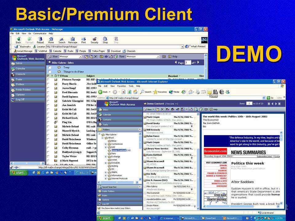 Basic/Premium Client DEMO