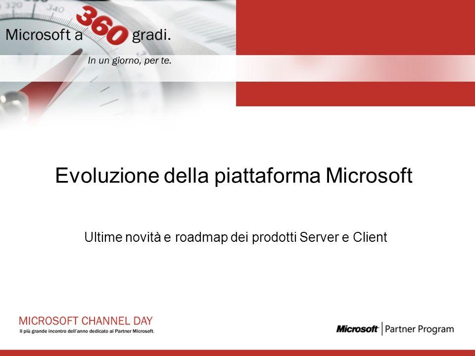 Evoluzione della piattaforma Microsoft Ultime novità e roadmap dei prodotti Server e Client