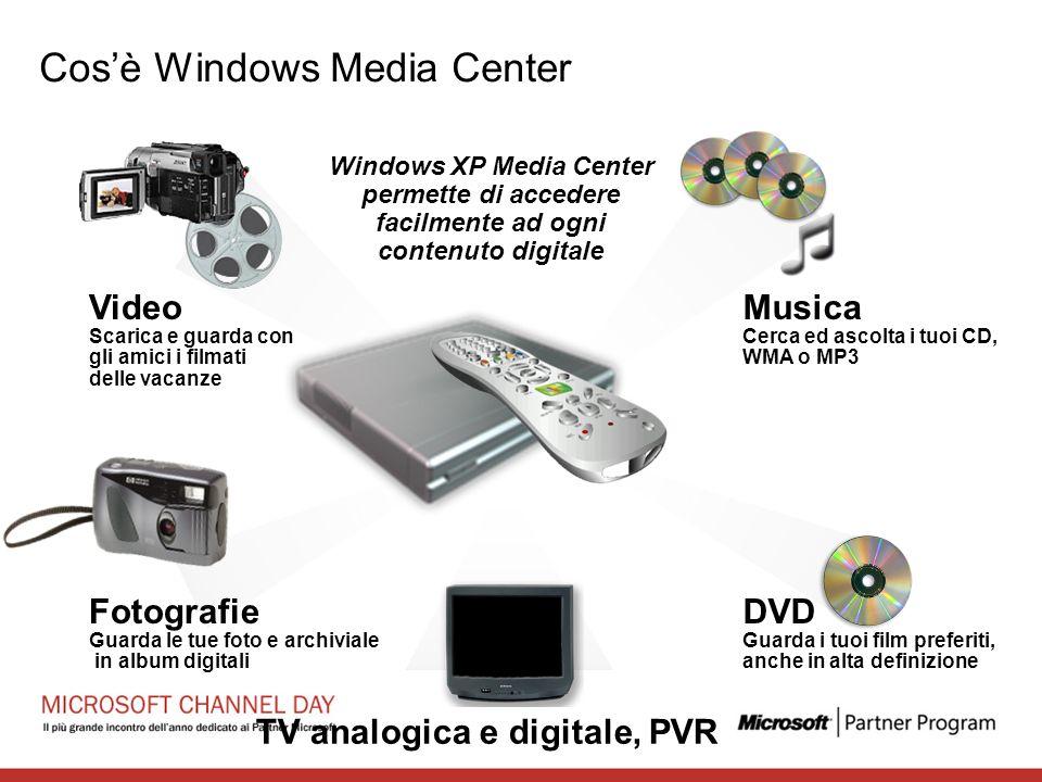 Musica Cerca ed ascolta i tuoi CD, WMA o MP3 Video Scarica e guarda con gli amici i filmati delle vacanze DVD Guarda i tuoi film preferiti, anche in a