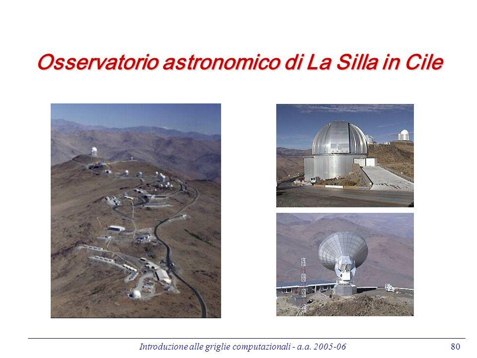 Introduzione alle griglie computazionali - a.a. 2005-0680 Osservatorio astronomico di La Silla in Cile