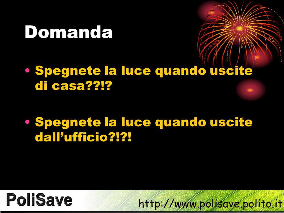 http://www.polisave.polito.it Domanda Spegnete la luce quando uscite di casa??!.