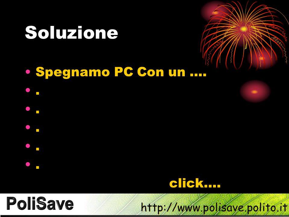 http://www.polisave.polito.it Soluzione Spegnamo PC Con un …...... click….