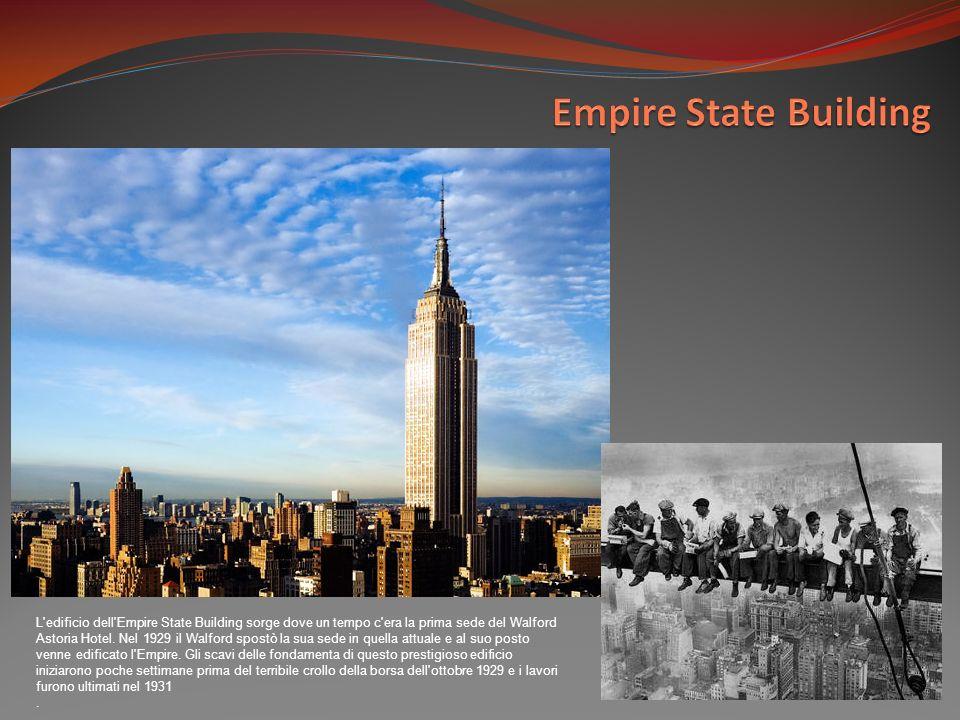 L edificio dell Empire State Building sorge dove un tempo c era la prima sede del Walford Astoria Hotel.