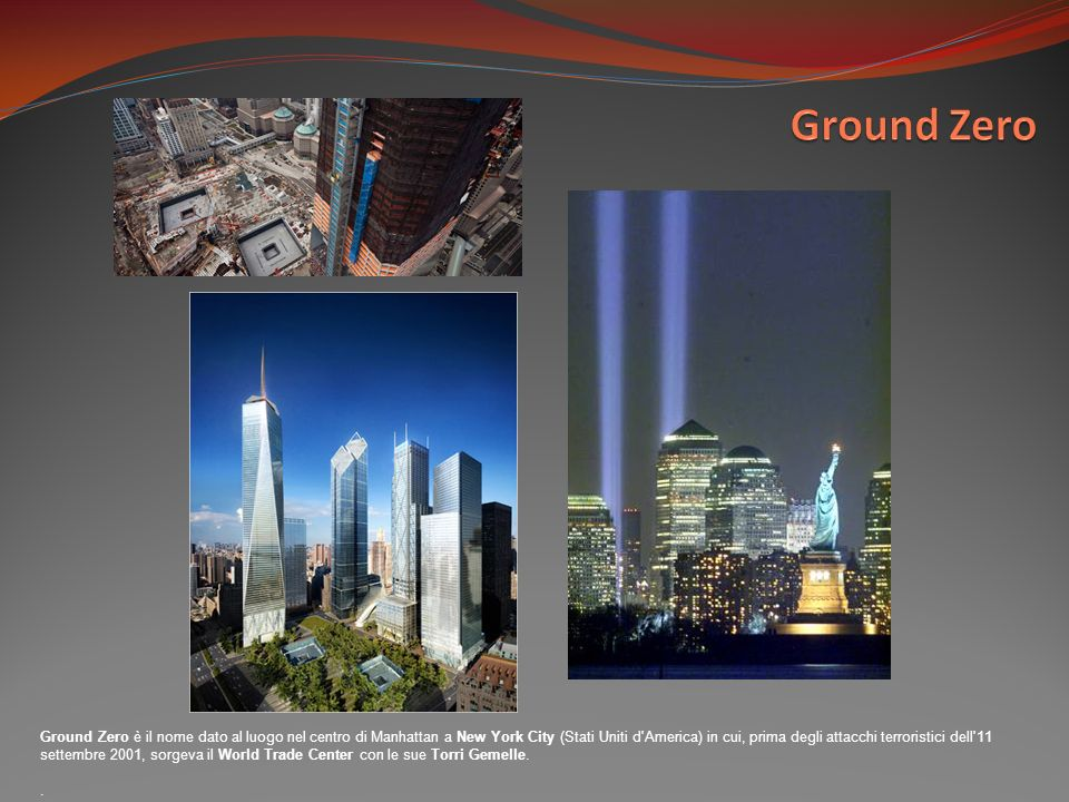 Ground Zero è il nome dato al luogo nel centro di Manhattan a New York City (Stati Uniti d'America) in cui, prima degli attacchi terroristici dell'11