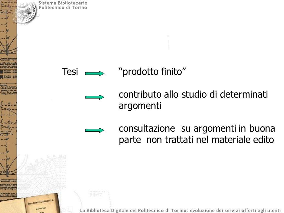 Tesi prodotto finito contributo allo studio di determinati argomenti consultazione su argomenti in buona parte non trattati nel materiale edito