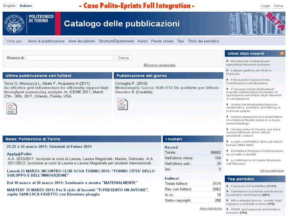 - Caso Polito-Eprints Full Integration -