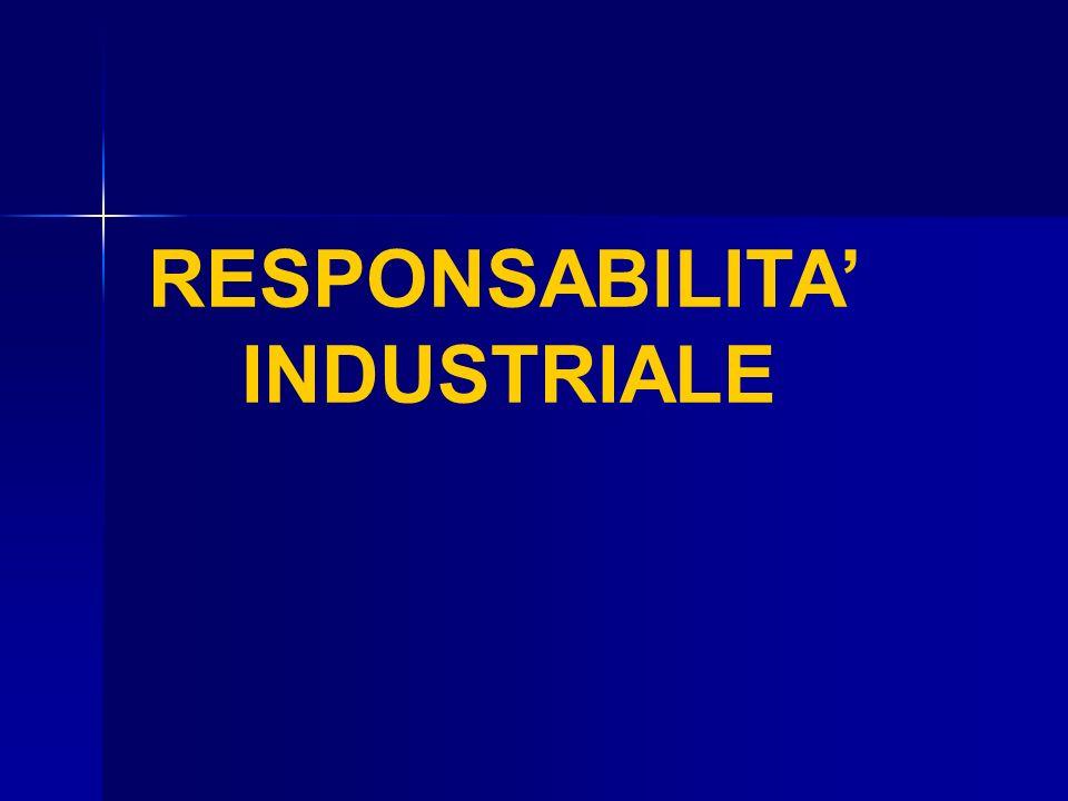RESPONSABILITA INDUSTRIALE