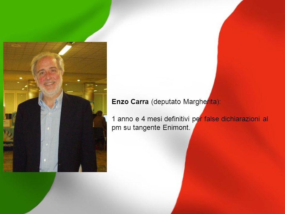 Paolo Cirino Pomicino (eurodeputato Udeur): 1 anno e 8 mesi definitivi per finanziamento illecito tangente Enimont, 2 mesi patteggiati per corruzione per fondi neri Eni.