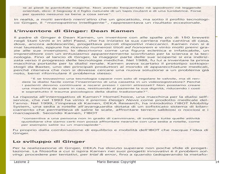 Lezione 2Mario Benassi Copyright15