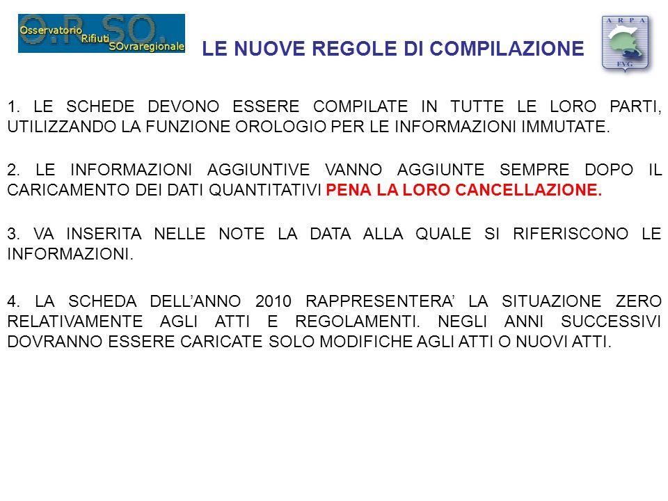 LE NUOVE REGOLE DI COMPILAZIONE 2.