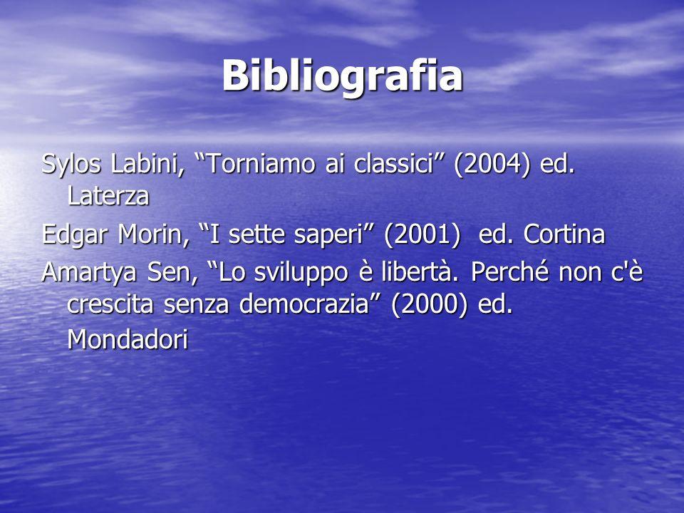 Bibliografia Sylos Labini, Torniamo ai classici (2004) ed.