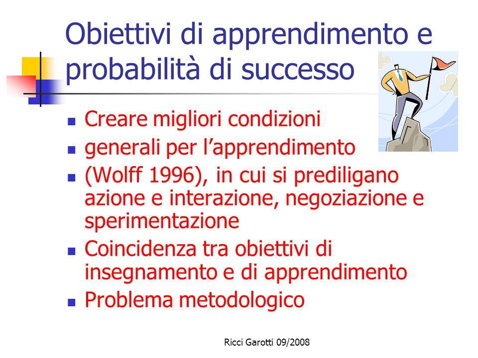 Ricci Garotti 09/2008 Un modello a quattro dimensioni Modello di Heimann/Otto/Schulz (1965) Dimensione pragmatica: sviluppo di competenze Dimensione e