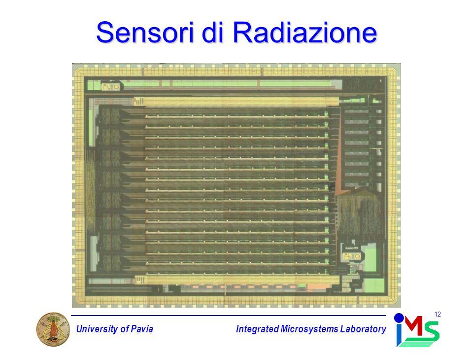 University of PaviaIntegrated Microsystems Laboratory 12 Sensori di Radiazione