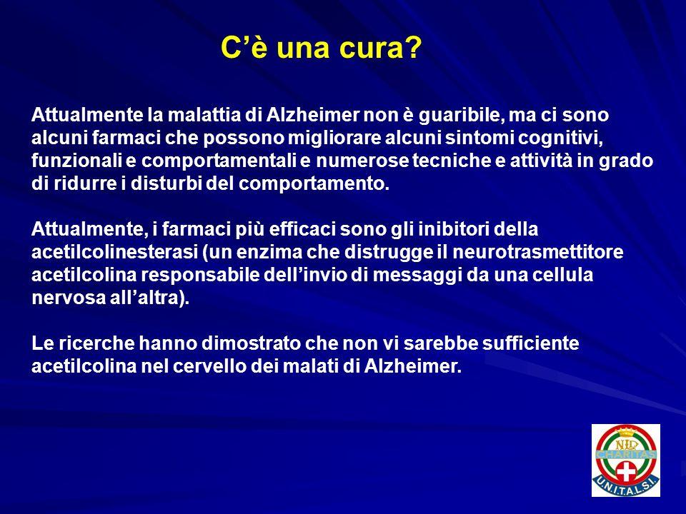 Attualmente la malattia di Alzheimer non è guaribile, ma ci sono alcuni farmaci che possono migliorare alcuni sintomi cognitivi, funzionali e comporta