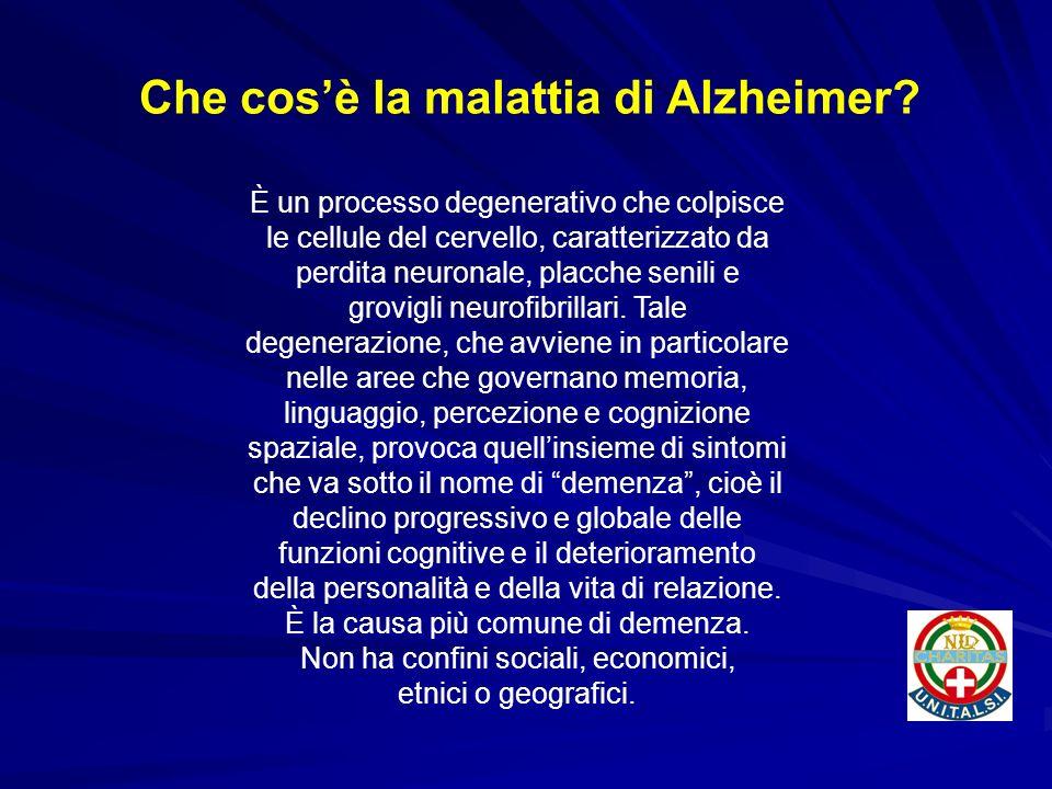 È un processo degenerativo che colpisce le cellule del cervello, caratterizzato da perdita neuronale, placche senili e grovigli neurofibrillari. Tale