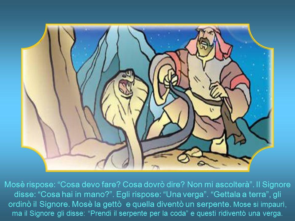 Mosè era atterrito.