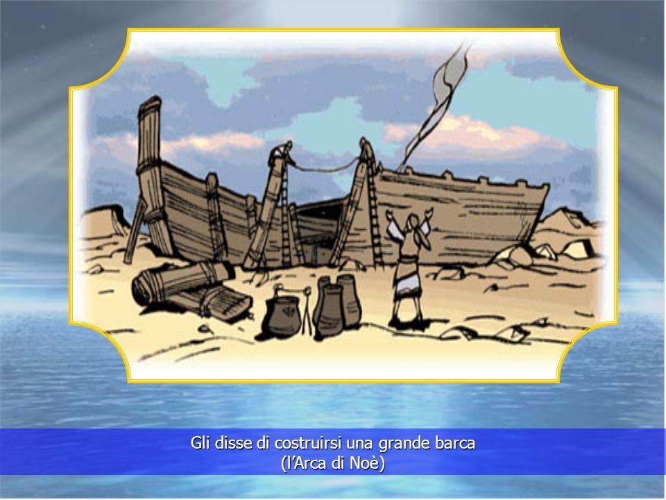 Cera tuttavia un uomo buono e timorato di Dio. Si chiamava Noè. Dio parlò a Noè del diluvio, spiegandogli cosa doveva fare.