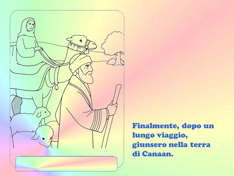 Così Abramo, con sua moglie Sara, suo nipote Lot, i suoi servi e il suo bestiame, partì per la nuova terra che Dio gli aveva indicato.