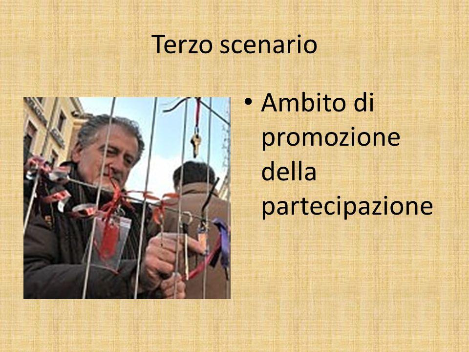Terzo scenario Ambito di promozione della partecipazione