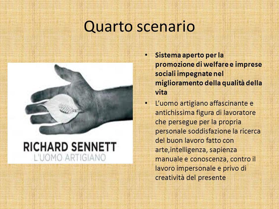 Quarto scenario Sistema aperto per la promozione di welfare e imprese sociali impegnate nel miglioramento della qualità della vita Luomo artigiano aff