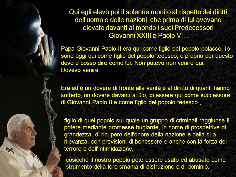 Auschwitz-Birkenau, 28 maggio 2006 VIAGGIO APOSTOLICO DI SUA SANTITÀ BENEDETTO XVI IN POLONIA Ventisette anni fa, il 7 giugno 1979, era qui Papa Giova