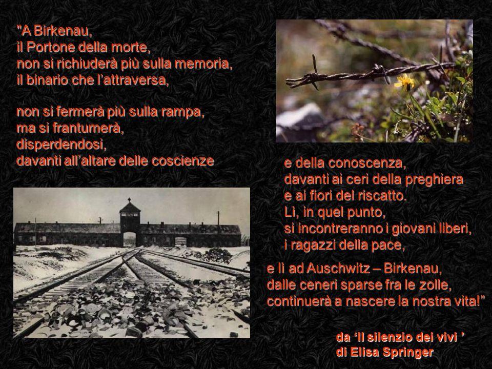 da Il silenzio dei vivi da Il silenzio dei vivi di Elisa Springer e lì ad Auschwitz – Birkenau, dalle ceneri sparse fra le zolle, continuerà a nascere la nostra vita.