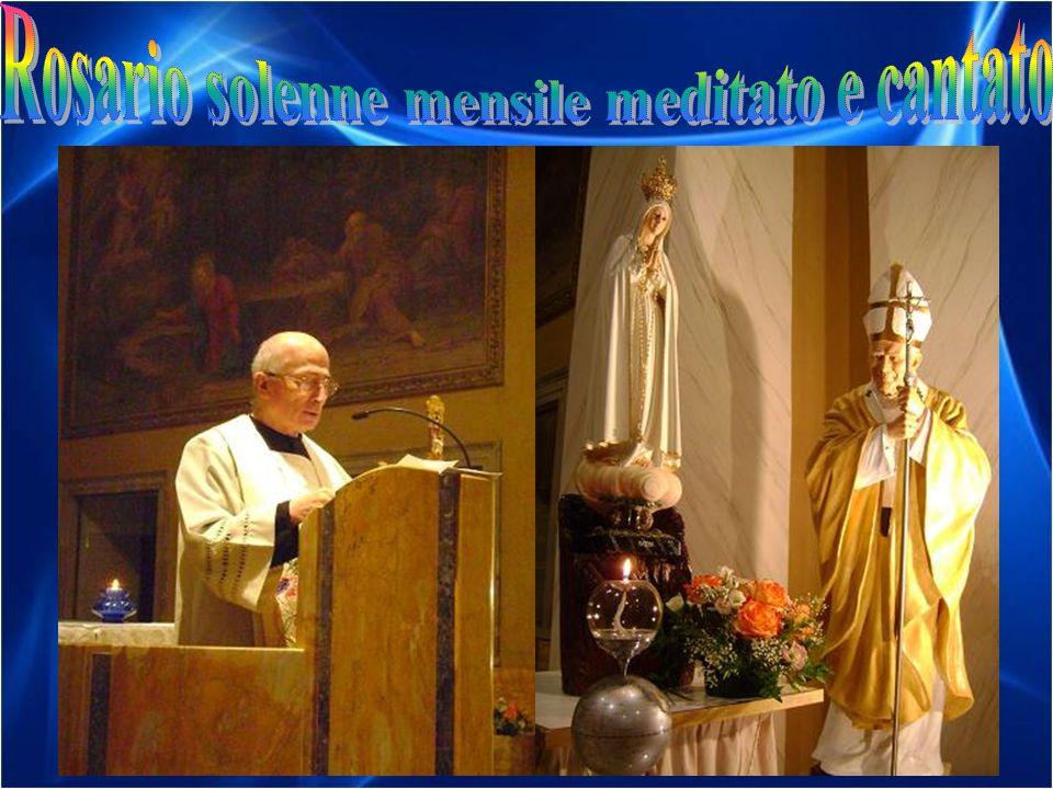13 Settembre 2011: donato da un fedele un rosario antico doro, che è stato messo sulla Madonnina da don Guglielmo Nocent.