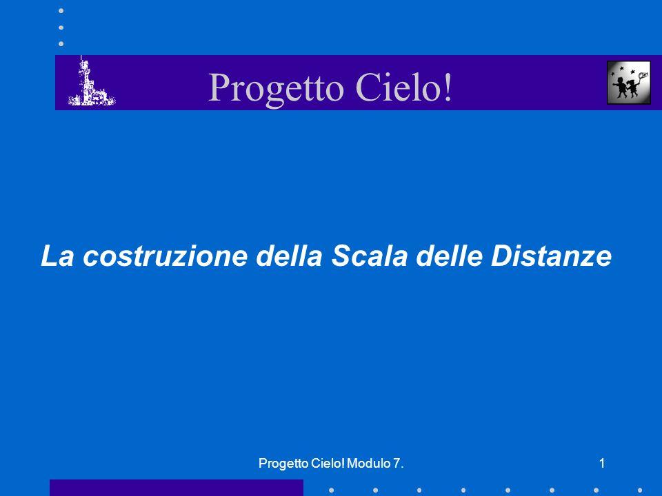 Progetto Cielo! Modulo 7.1 La costruzione della Scala delle Distanze Progetto Cielo!
