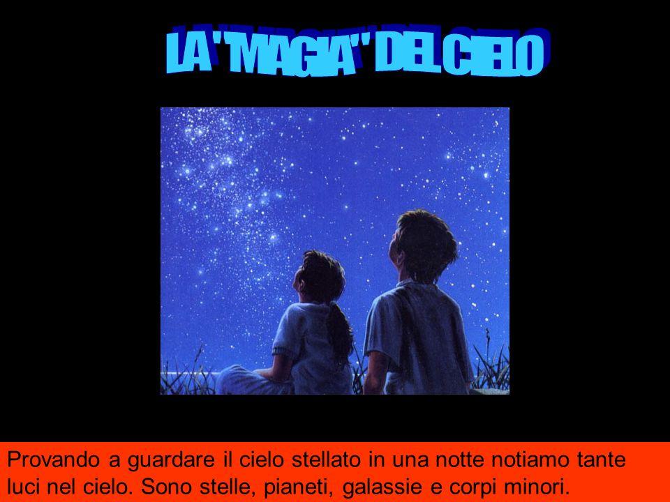 Provando a guardare il cielo stellato in una notte notiamo tante luci nel cielo.
